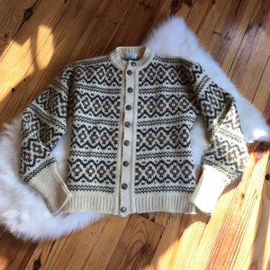 STOBI Icelandic Wool Cardigan Sweater XXL